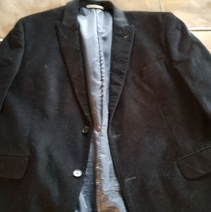46 R Black sueded corduroy blazer